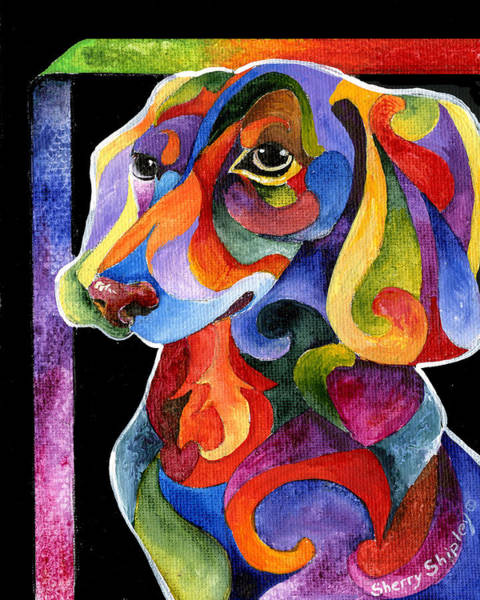 Painting - Party Doxy by Sherry Shipley