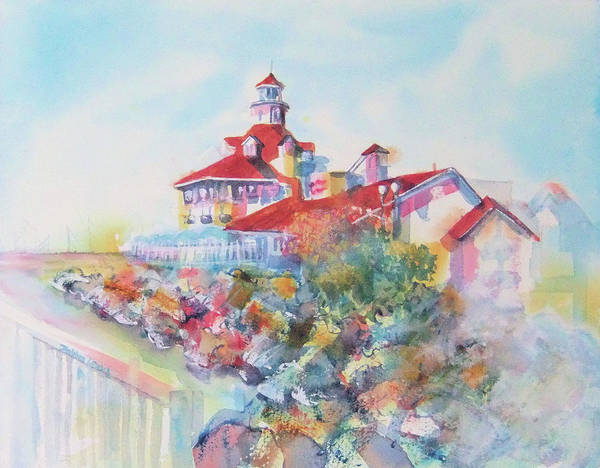 Painting - Party Time At Parker's Lighthouse by Debbie Lewis