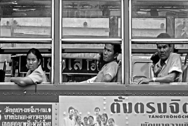 Autobus Photograph - Passing By by Sladja Ivkovic