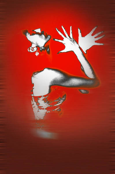 Vogue Photograph - Passion In Red by Naxart Studio