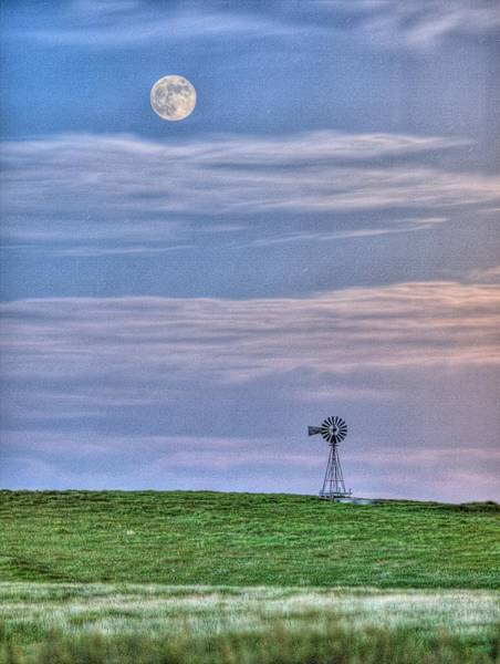 Photograph - Pastel Moon by HW Kateley