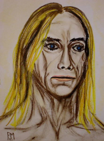 Iggy Pop Painting - Pastel Pop by Pete Maier