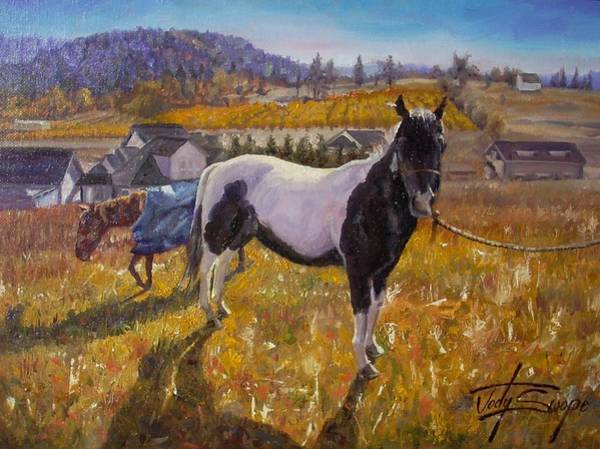 Aqha Painting - Patches And Pandora by Jody Swope