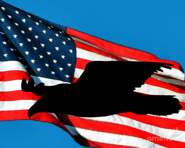 Wall Art - Photograph - Patriotic Predator by Al Powell Photography USA
