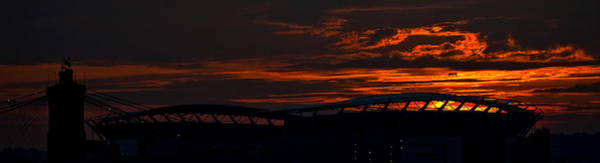 Photograph - Paul Brown Stadium Silhouette by Keith Allen