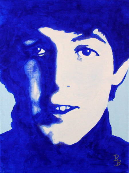 Painting - Paul Mccartney - The Beatles by Bob Baker