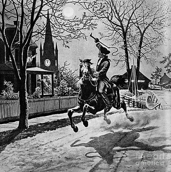 Notable Photograph - Paul Revere, Midnight Ride, April 18th by Photo Researchers