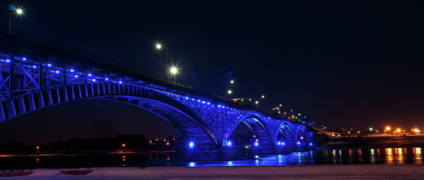 Photograph - Peace Bridge At Night by Guy Whiteley