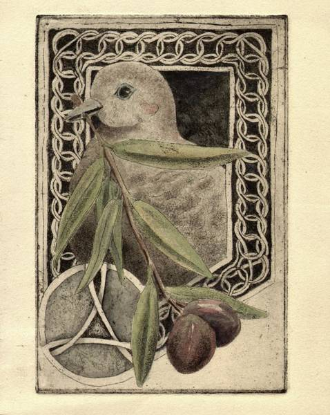 Olive Branch Drawing - Peace For You by Sara Bell