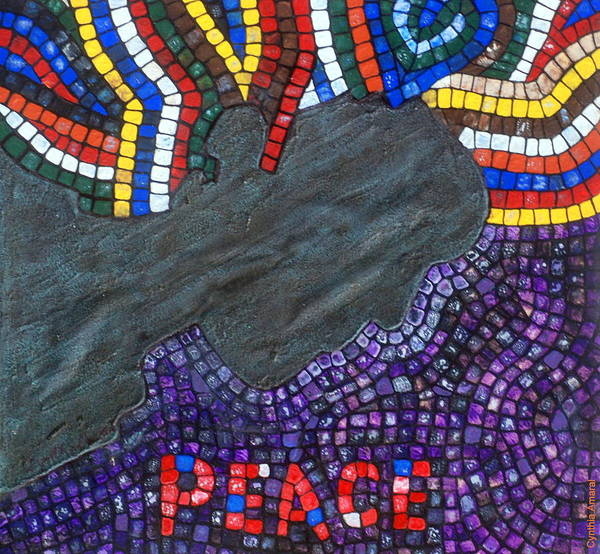 Art Print featuring the painting Peace Man by Cynthia Amaral