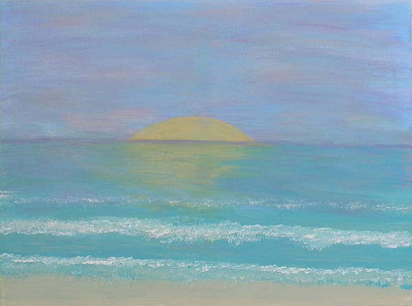 Ione Painting - Peaceful Beach by Ione Hedges