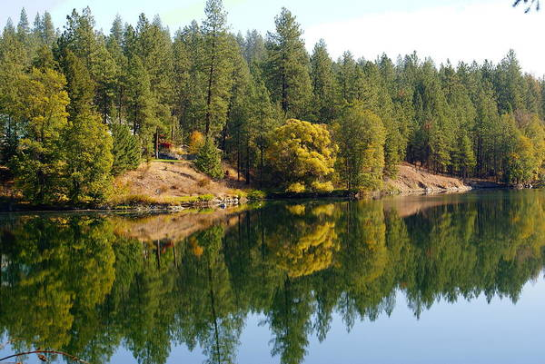 Photograph - Peaceful River Reflections In Autumn by Ben Upham III