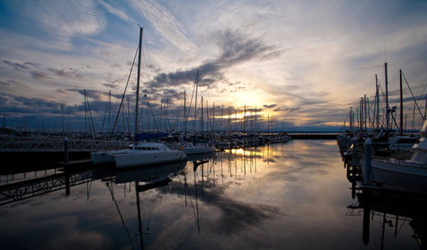 Puget Sound Photograph - Peaceful Water by Mike Reid