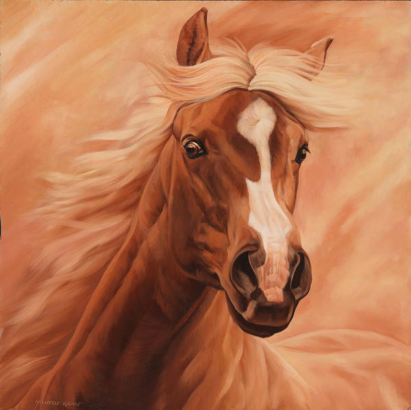 Saddle Wall Art - Painting - Peach by JQ Licensing