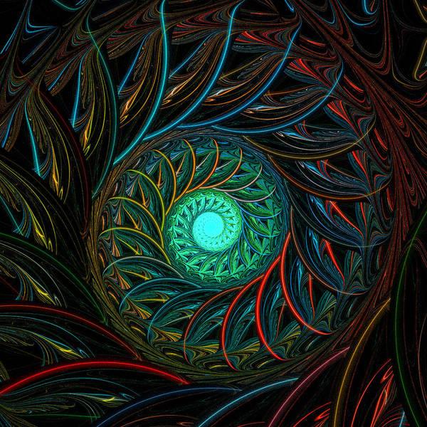 Digital Art - Peacock Spiral by Amanda Moore