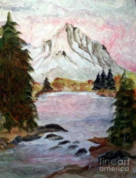 Grime Digital Art - Peak In The Rockies by Carol Grimes
