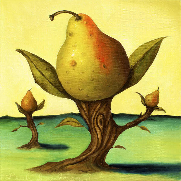 Painting - Pear Trees 2 by Leah Saulnier The Painting Maniac