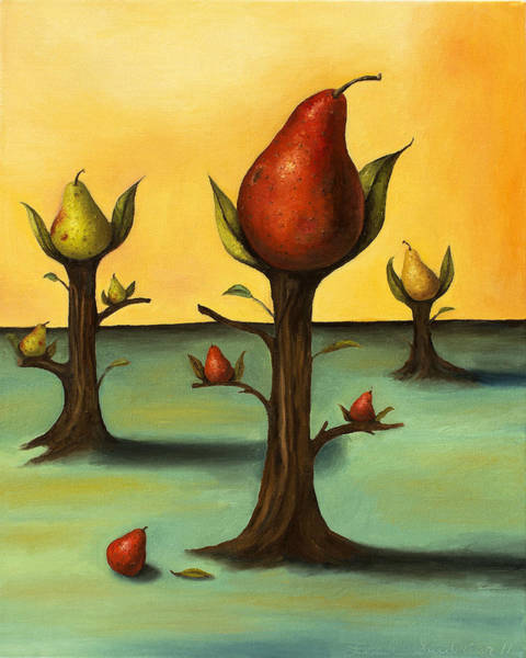 Painting - Pear Trees 3 by Leah Saulnier The Painting Maniac