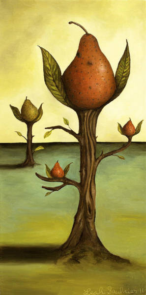 Painting - Pear Trees by Leah Saulnier The Painting Maniac