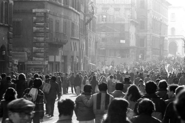 Photograph - Pedestrians In Rome Italy by Emanuel Tanjala