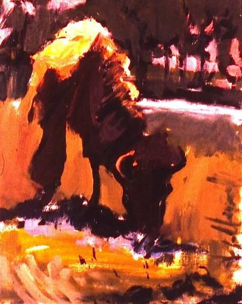 Painting - Peg Leg Buffalo by Les Leffingwell