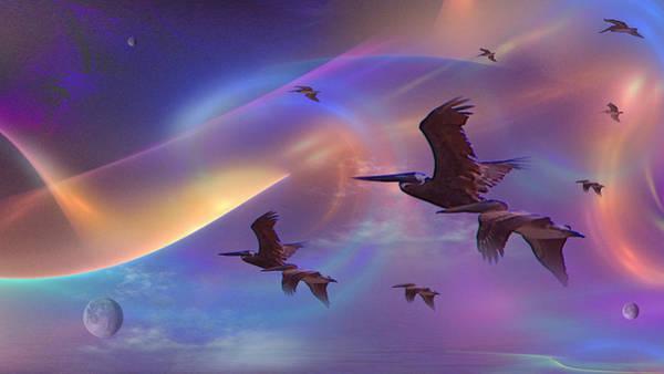 Fractal Landscape Digital Art - Pelican Do by Phil Sadler