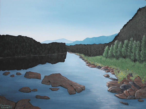 Wall Art - Painting - Pemigewasset River New Hampshire by Candace Shockley