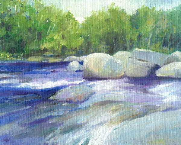 Wall Art - Painting - Pemigewasset River Nh by Leslie Alfred McGrath