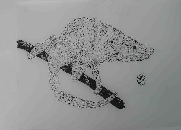 Drawing - Pen And Ink Five by AJ Brown