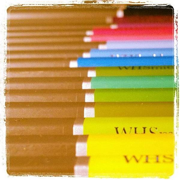 Grace Wall Art - Photograph - #pencils #cute #closeup #colourful by Grace Shine