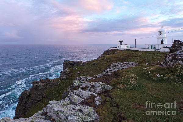 Penwith Photograph - Pendeen Watch Lighthouse In Cornwall by Richard Thomas