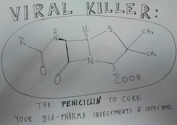 Options Drawing - Penicillin The Viral Killer by Binary Options