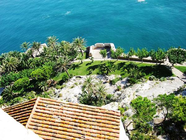 Photograph - Peniscola Castle Park At Sea Level View In The Mediterranean Coast Spain by John Shiron