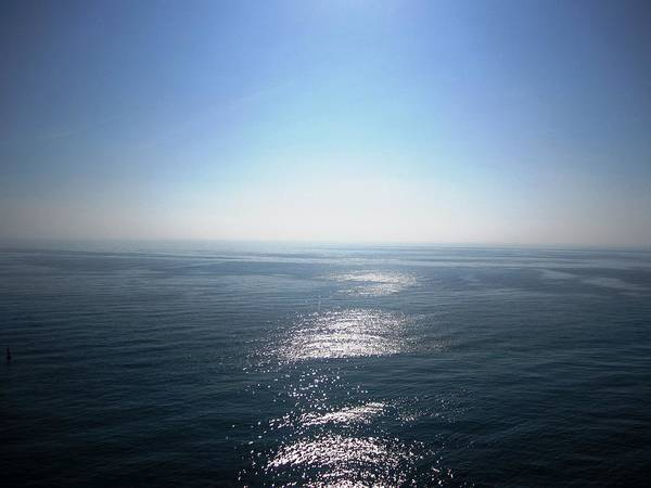 Photograph - Peniscola Castle Sea View Of The Sun Glowing In The Water Spain by John Shiron