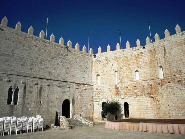 Photograph - Peniscola Castle Wall Along The Mediterranean Coast by John Shiron