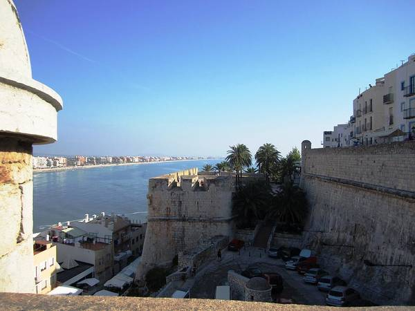 Photograph - Peniscola Panoramic View At The Mediterranean Sea In Spain by John Shiron