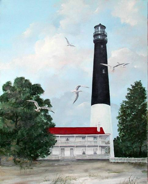 Painting - Pensacola Light House by Gary Partin