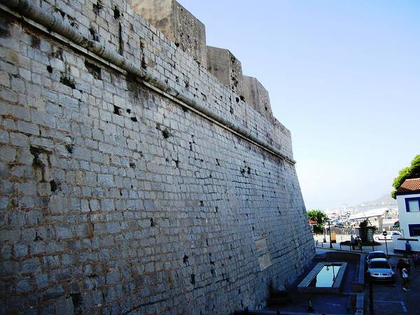 Photograph - Pensicola Ancient Castle Wall By Mediterranean Sea In Spain by John Shiron