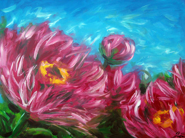 Nz.impressionist Painting - Peonies by Ira Mitchell-Kirk