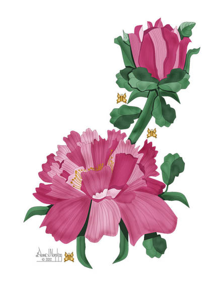Wall Art - Painting - Peony In Pink by Anne Norskog