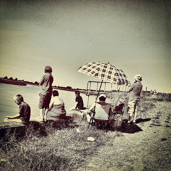 Norfolk Photograph - People Enjoying The Sun #people #boy by Invisible Man