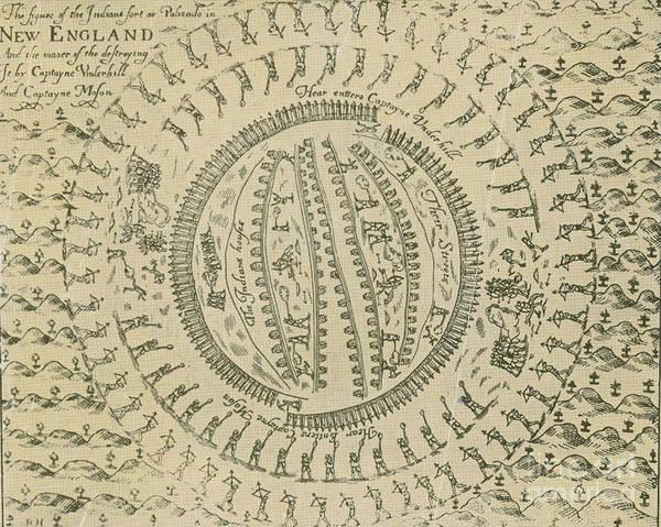 Photograph - Pequot War Mystic Massacre 1637 by Photo Researchers