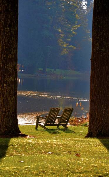 Poconos Wall Art - Photograph - Perfect Morning Place by Bill Cannon