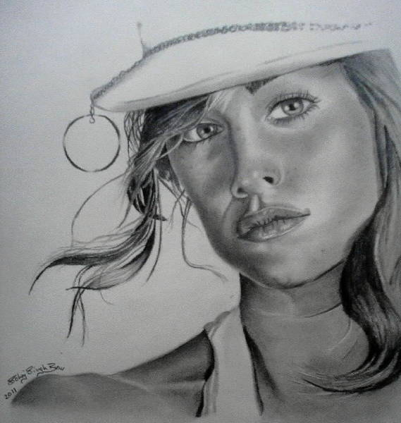Singh Drawing - Perfection by Sohaj Singh Brar
