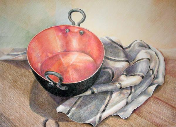 Indian Corn Drawing - Perol Con Manta by Sonia Tudela