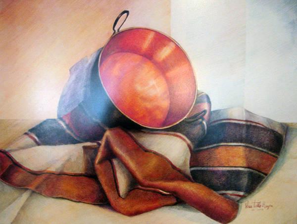 Indian Corn Drawing - Perol Sobre Kepi by Sonia Tudela