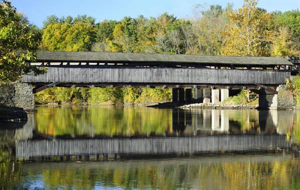Sturgeon River Photograph - Perrine's Covered Bridge by Luke Moore