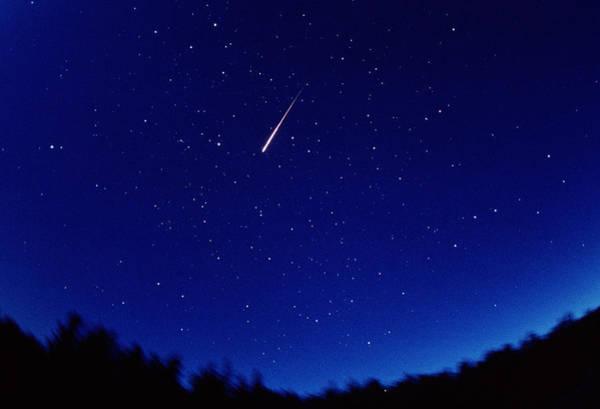 Perseid Wall Art - Photograph - Perseid Meteor Trail by Pekka Parviainen