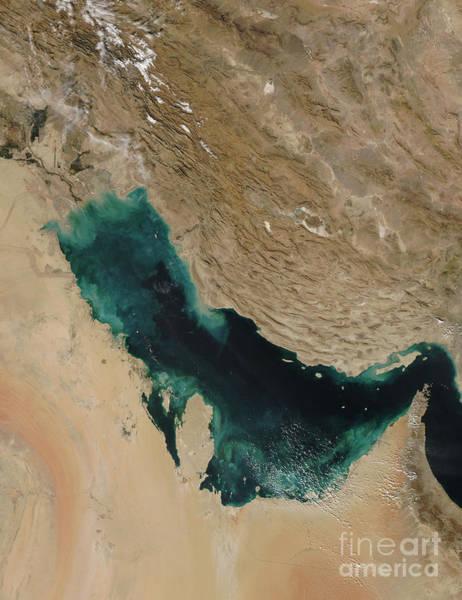 Bahrain Photograph - Persian Gulf Satellite Image by Nasa