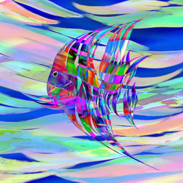 Digital Art - Pescado Aqui by Wally Boggus